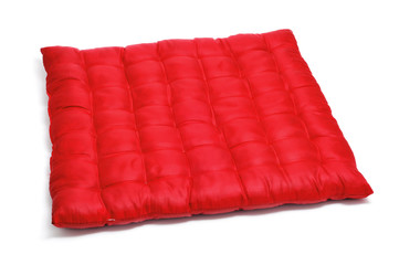 red satin cushion