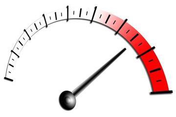 roter Bereich, Maximum, Tachometer, Drehzahlmesser,