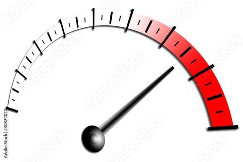 Illustration  roter Bereich  Maximum  Tachometer  Drehzahlmesser Tachometer Logo