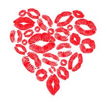 coeur rouge plein de bisous