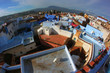 View of the flat roofs of arabic city in Morocco