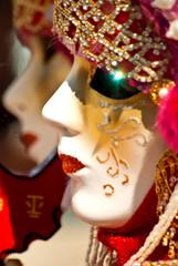 Carnevale di Venezia, maschera riflessa.