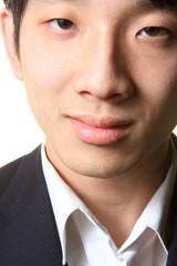 Close up portrait of man smiling
