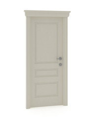 3d render of white classic door