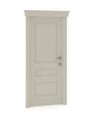 3d render of white classic door