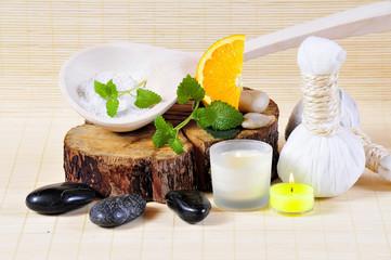 Kräuterstempel Wellness Kerze