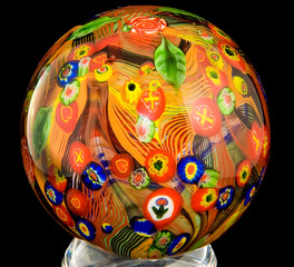 Glass ball made on Murano Island (near Venice)