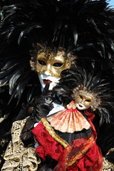 Mask at St. Mark's Square, Venice Carnival 2011