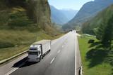 Fototapeta ciężarówka - autostrada - Ciężarówka