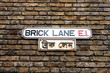 Brick Lane Streetsign, Shoreditch, London, UK