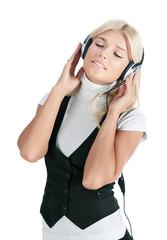 The girl in ear-phones