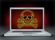 Internet danger symbol representing cyber crime