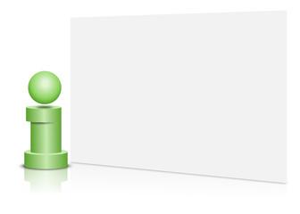 information, karte, blank, grün
