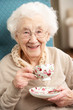Senior Woman Enjoying Cup Of Tea At Home - 30836274