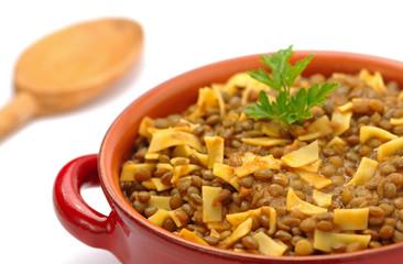 Pasta e lenticchie - Pasta and lentils