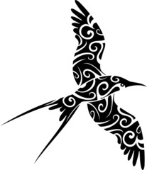 Uccello Tatuaggio-Bird Tattoo-Vector