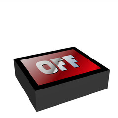 """bouton """"off"""" 3d"""