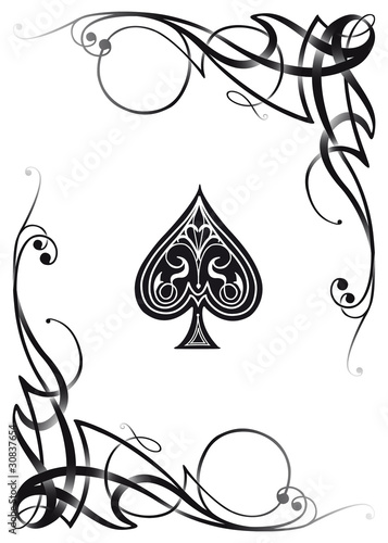 Decorative Ace Card