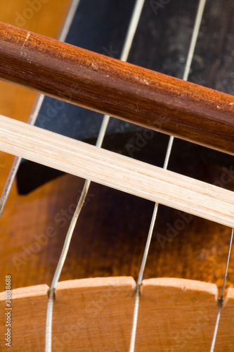 playing violin close-up
