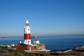Lighthouse at most southern point of Europe on Gibraltar
