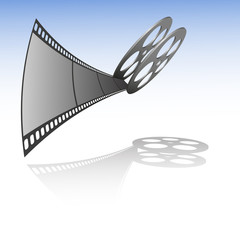 Vector film strip with reel