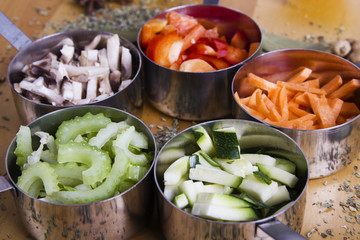 Cooking Ingredients. Vegetables