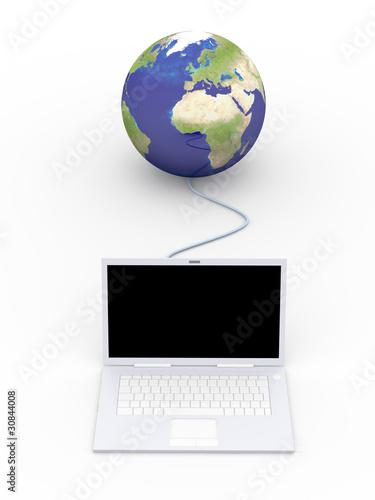 Verbundener Laptop