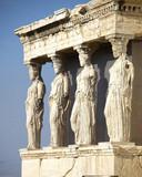 Caryatides, erechteion temple  Acropolis, Athens Greece poster