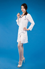 Young nurse with a stethoscope