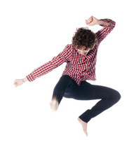 saut sportif de jeune skatteur