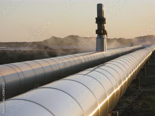 Leinwanddruck Bild Pipeline - Rohrleitungen