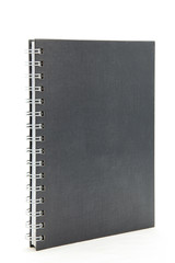 black hard cover notebook