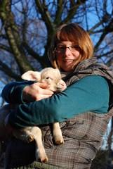 Kathy mit Schaf