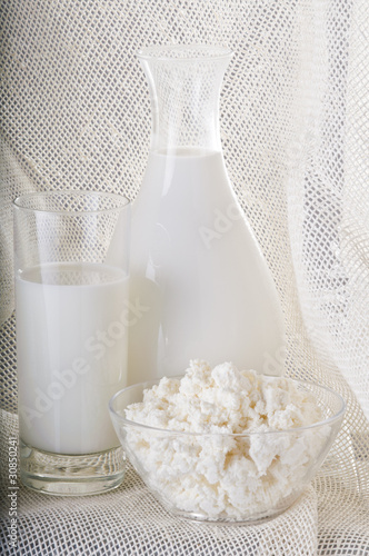 Milk product still life