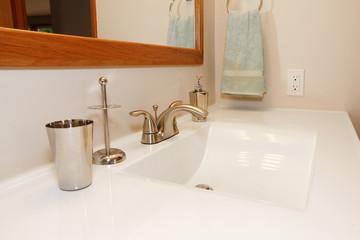 White modern large sink