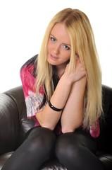 blonde femme