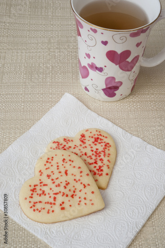 Heart Cookies and Tea