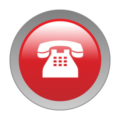 HOTLINE Web Button (contact phone customer service call us now)