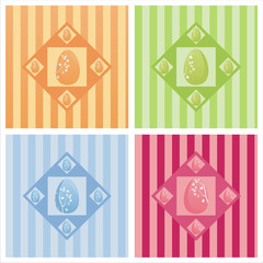 set of 4 cute easter backgrounds