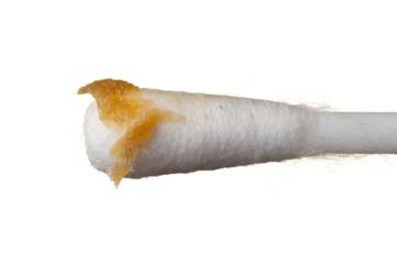 Yellow ear wax
