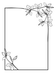 Simple frame with flowers
