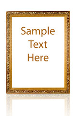 Modern antique gold frame with a decorative pattern