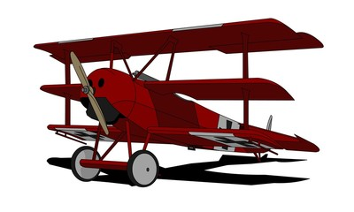 """Red Baron"" Fokker Dr.I triplane, (recolored version)"