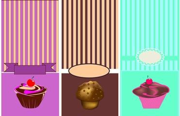 Set sfondi dolci americani, in vettoriale