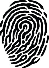 Fingerprint - Question Mark