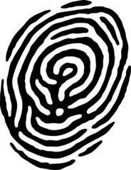 Fingerprint - Question Mark