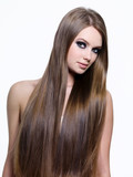 beauty of long healthy hair of woman