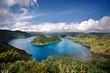 Cuicocha caldera and lake in Ecuador South America