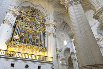 Interior of Granada cathedral, Spain