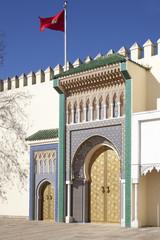 Königspalast in Fes in Marokko